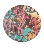 Werzalit Round Table Top Graffiti 800mm - CG907