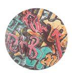 Werzalit Round Table Top Graffiti 700mm - GR581