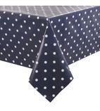 PVC Polka Dot Tablecloth Blue 35in