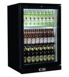 SP1HC-BK 120 Ltr Single Door Back Bar Bottle Cooler