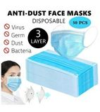 Q2626 Blue 3PLY Disposable Medical Hygiene Face Mask (50 qty)